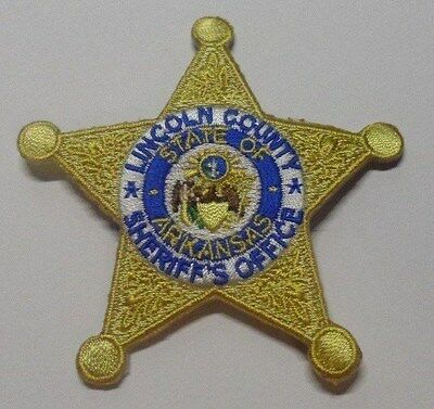 Lincoln County Arkansas Sheriff Hat Vest Patch Unused