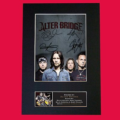 ALTER BRIDGE Signed Mounted Photo Reproduction  Autograph Print A4 645