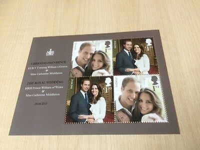 stamps Great Britain miniature sheet Royal Wedding engagement 2011 MS 3180