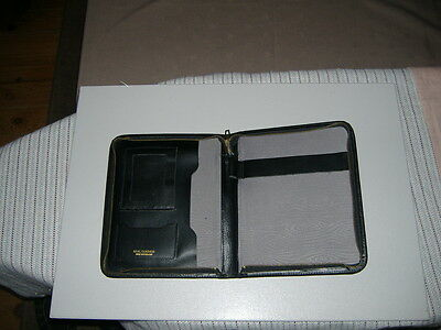 Vintage Black Real Leather Writing Case