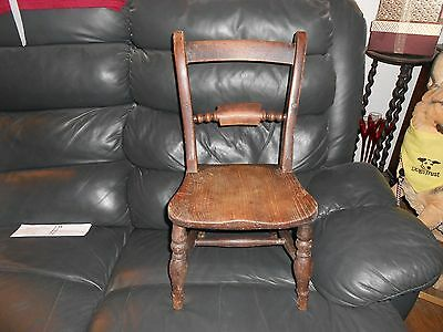 Arts And Crafts?? Childs Chair  Wooden   Collection Only