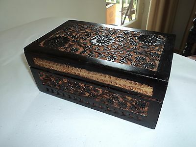Old Indian Kashmiri box, very detailed and unusual