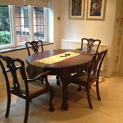 Antique Mahogany Dining Table & 8 Chairs Ball & Claw Feet Magnificent Finery