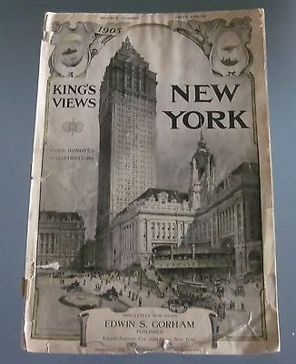 King´s Views of New York 1905 King, Moses, Lithographic, 111 Jahre alte Ausgabe