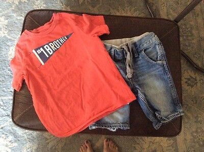 baby gap toddler boy outfit 2 piece set size 5T in VGUC