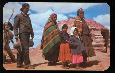 Navajo Family Going to The Trading Post (unused(indians1080
