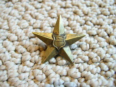 Brass Civil War 12th Corps Badge With Patriotic Shield