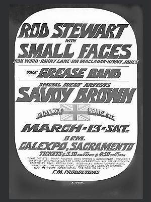 """Rod Stewart / Small Faces 16"""" x 12"""" Photo Repro Promo Poster"""