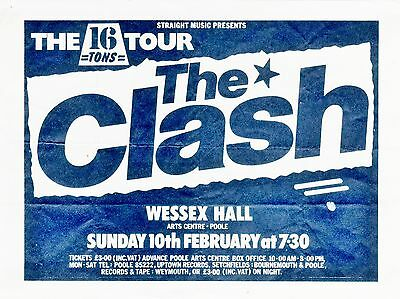 """The Clash Poole 16"""" x 12"""" Photo Repro Concert Poster"""