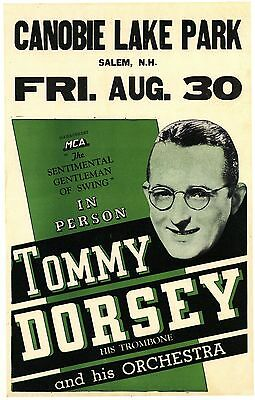 """Tommy Dorsey 16"""" x 12"""" Photo Repro Concert Poster"""