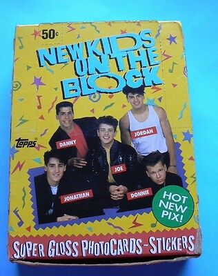 1989 Topps NEW KIDS ON THE BLOCK Box of 36 Packs SUPER GLOSS PHOTO CARDS NEW!