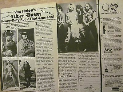 Van Halen, Two Page Vintage Clipping