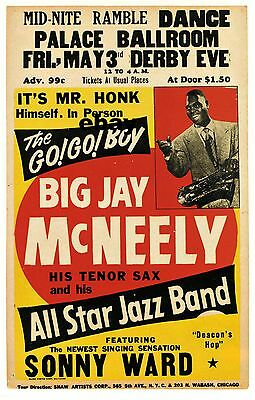 "Big J McNeely Palace Ballroom 16"" x 12"" Photo Repro Concert Poster"