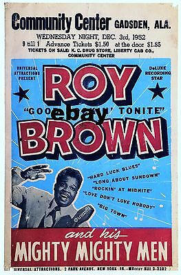 "Roy Brown Gadsden 16"" x 12"" Photo Repro Concert Poster"