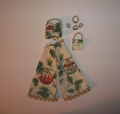 Custom Topper Dawn Doll ~Holiday Ornaments Pant Suit Ensemble!~