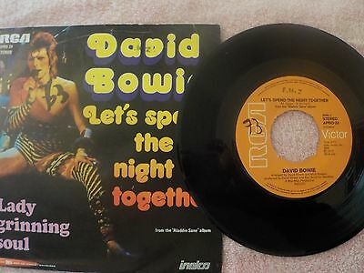 "David Bowie-Rare lets spend the night together Dutch 7"" single"