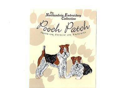 Wire Haired Fox Terriers  EMBROIDERED  Pooch Patch