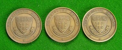 3 Medallions for Rowing - Westminster School