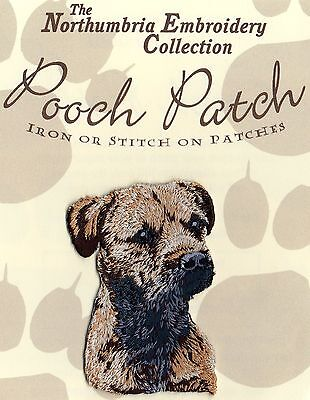 Border  Terrier  EMBROIDERED Pooch Patch
