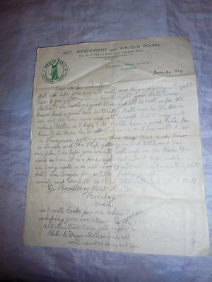 1918 Letter Home From South Wales Borderers Soldier In Natal & Bombay, India