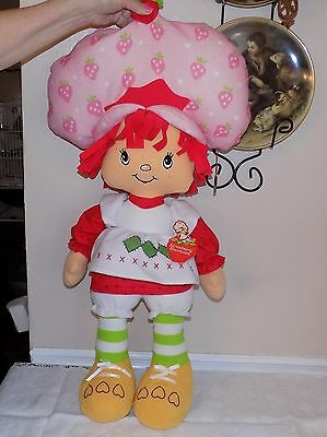 """LARGE ADORABLE  30"""" tall Strawberry Shortcake doll w/tag"""