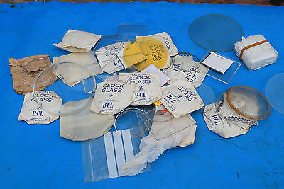 old small  clock plastic glass  job lot