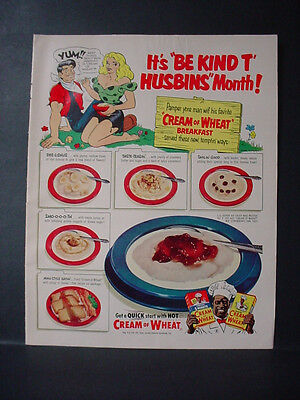 1953 Li'l Abner Full Page Color Cream of Wheat Cereal Vintage Print Ad 11078