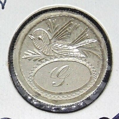 """1893 Barber Dime Love Token """"g"""" With Bird On Back"""