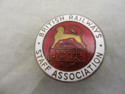 Vintage British Railways Staff Association Enamel Badge. B63