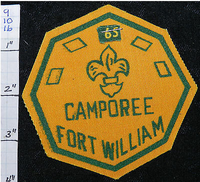 Boy Scout 1965 Fort William Camporee Canada Patch