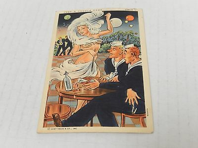 """US NAVY Comic """"JUST A COUPLA FANS"""" from Mexico to USA USN-12"""