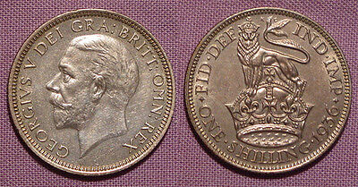 1936 KING GEORGE V SILVER SHILLING - Top Grade With Lustre