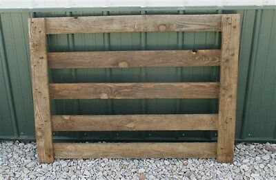 4' Oak Swinging Gate Wood Fence Heavy Sorting Cemetery Garden Yard Ornament e