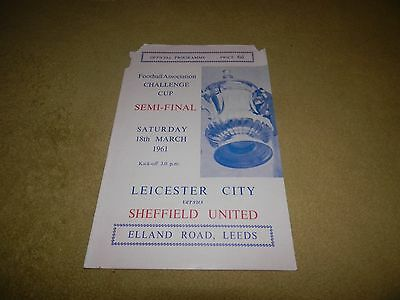 Leicester City v Sheffield United in 1961 FA Cup Semi-Final at Elland Road