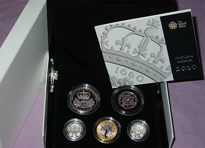 2010 Royal Mint Silver Piedfort Proof Coin Collection - Low Mintage Coins