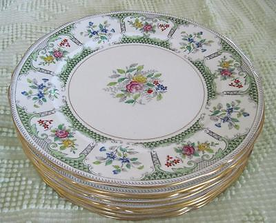 "Eight Adderley China Lowestoft Bone China 10.25"" Dinner Plates Made in England"