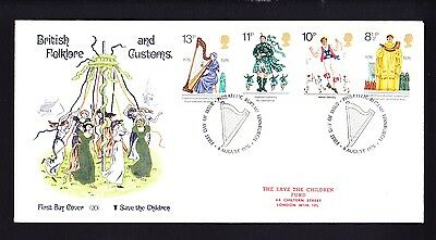 Gb 1976 Rare Early Save The Children Fdc No 20 Folklore