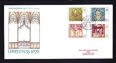 Gb 1976 Rare Early Save The Children Fdc No 22 Christmas