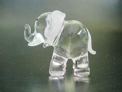 Decorative Glass ELEPHANT, Pretty Glass Ornament, Hand Painted Glass Animal,Gift