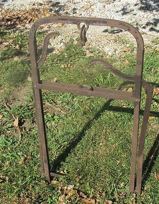 Vintage Barn Trolley Harpoon Fork Hay Carrier Antique Cast Iron Farm Tool g