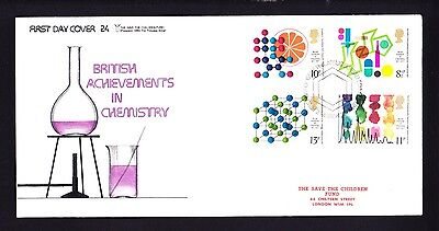 Gb 1977 Rare Early Save The Children Fdc No 24 Chemistry
