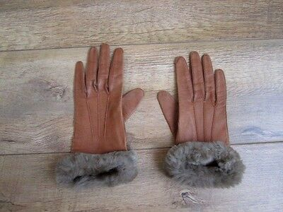 Beautiful Vintage Tan Butter Soft Leather Gloves