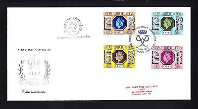 Gb 1977 Rare Early Save The Children Fdc No 25 Silver Jubilee