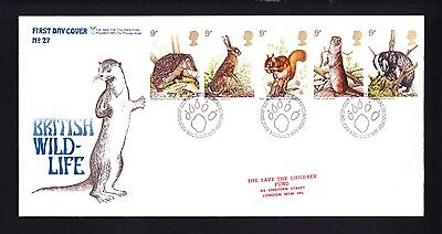 Gb 1977 Rare Early Save The Children Fdc No 27 Wildlife