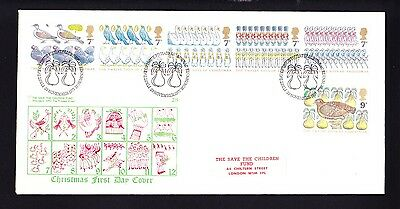 Gb 1977 Rare Early Save The Children Fdc No 28 Christmas