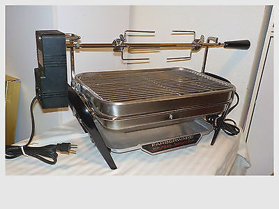 Vintage Farberware Open Hearth Electric Indoor Broiler Grill Rotisserie