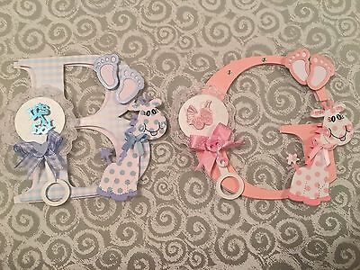 Baby Girl And Boy Card Toppers