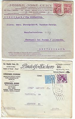 BRAZIL 1930s 2x covers to GERMANY ( 1 )