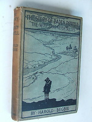 Antique 1900 Edition Story Of Baden-Powell The Wolf That Never Sleeps