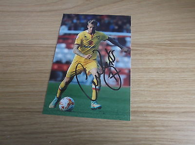 Mk Dons fc Carl baker signed 6x4 action photo